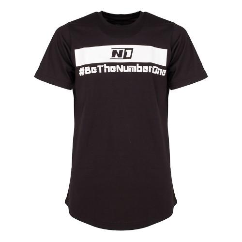 Cotton Long T-Shirt Black