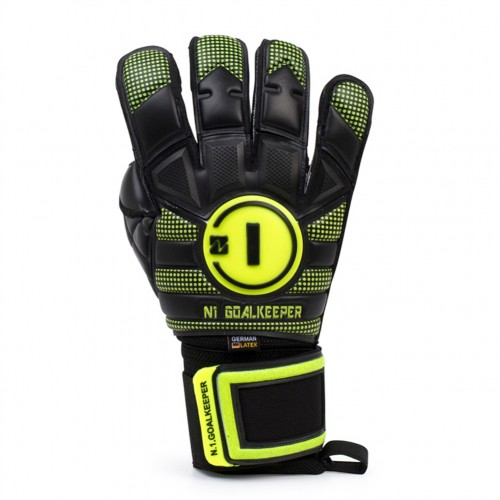 Goalkeeper Gloves Horus Elite Black Neon