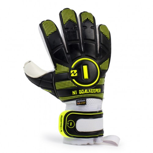 Goalkeeper Gloves Horus Kids Black Neon
